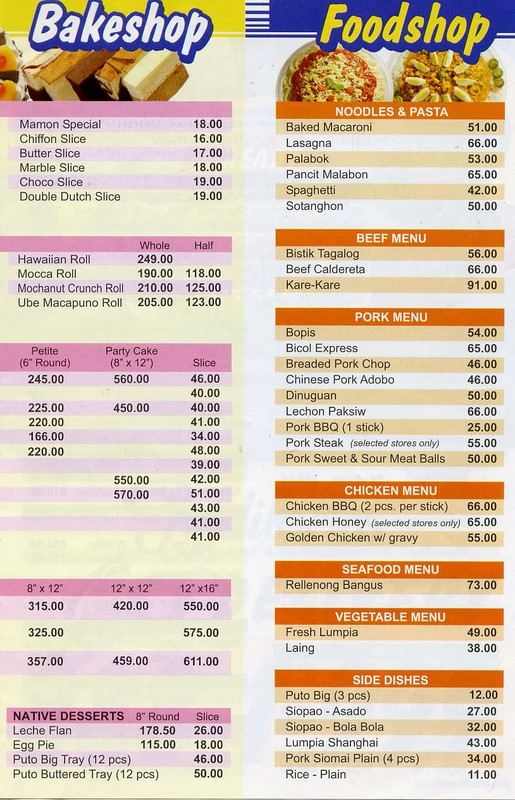 Goldilocks Menu