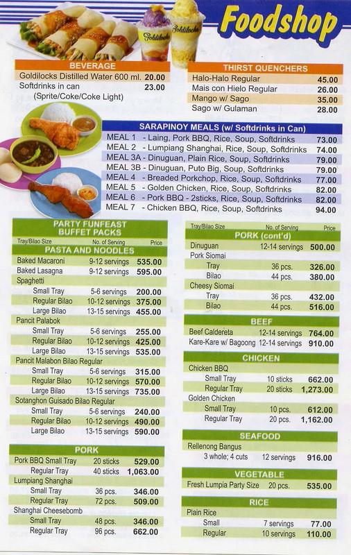 goldilocks_menu_3 goldilocks birthday cakes prices philippines 6 on goldilocks birthday cakes prices philippines